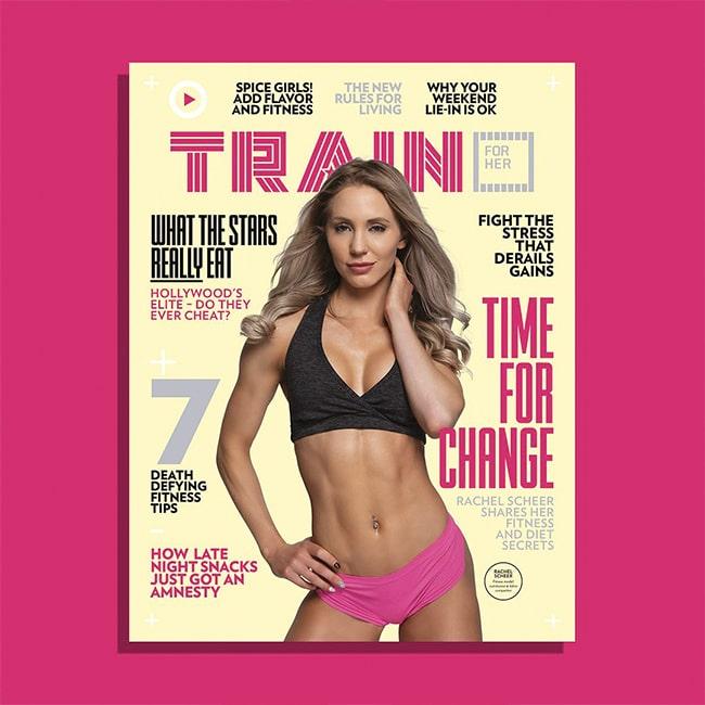 Rachel Scheer Train for HER Magazine Cover